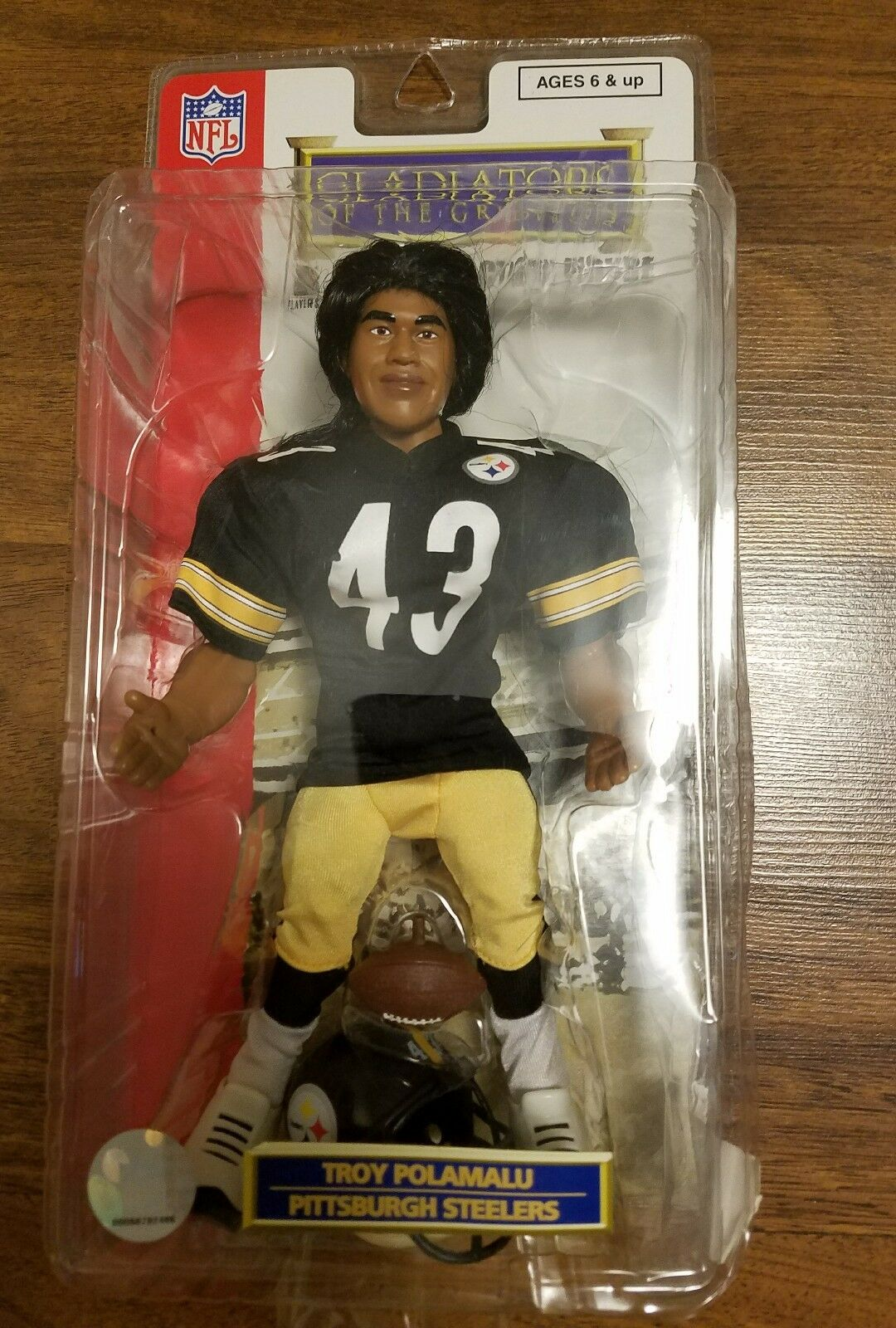 Gladiateurs du Gridiron 10  pouces Pittsburgh Steelers Troy Polamalu 2006 NFL