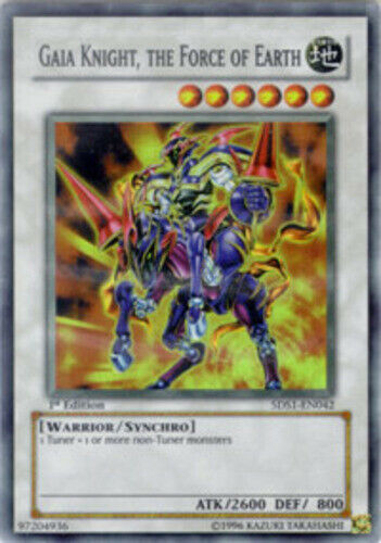Unlimited Edition x3 5DS1-EN042 the Force of Earth Gaia Knight Super Rare