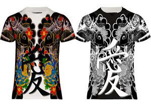 Fish Shirt Yakuza Fit T amp;sizes Usuk Sub Koi Tattoo Regular Japan Tee j5L4q3AR