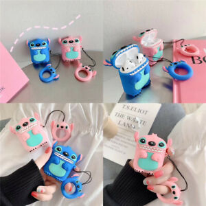 3d Cute Cartoon Disney Stitch Earphone Bag Cover For Apple Airpods Charging Case Ebay