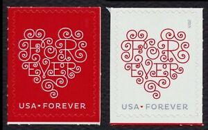 #4955 (CF1) Y 4956 (CF1) Corazones, Individuales, Counterfeit-Not Para Envío