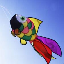 NEW Rainbow Fish Kite Windsock Outdoor Garden Decor Kids Line Laundry Kids Toys