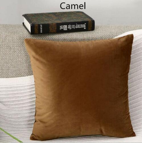 Solid color Polyester velvet Pillowcase Bolster Cushion cover SC