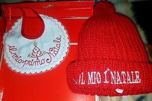 Bavagliolo Bavetta Buon Natale Con Orsetto E Cappello Il Mio 1° Natale - Nuova Moins Cher
