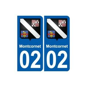 02 Montcornet blason ville autocollant plaque sticker - Angles - arrondis TkKyuix1-07133802-798243646