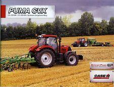 CASE Puma CVX 07 / 2012 catalogue brochure Traktor tracteur tractor