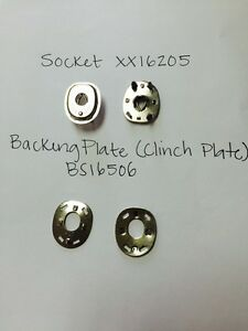"Lift The Dot Fasteners Kit Socket Clinch Plate /& 7//8/"" Windshield Clips 25 Sets"