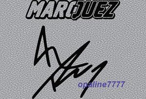 STICKER SIGNATURE MARC MARQUEZ MOTO GP CASQUE RESERVOIR ...