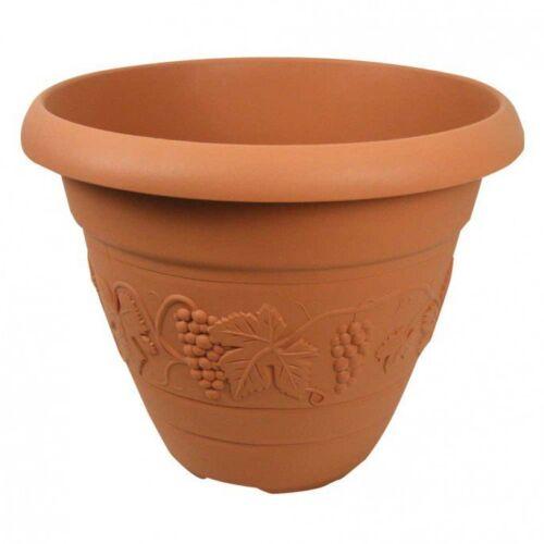 GIARDINO Vaso suolo FIORI crescere le piante 47cm TERACOTTA Vineyard FIORIERA