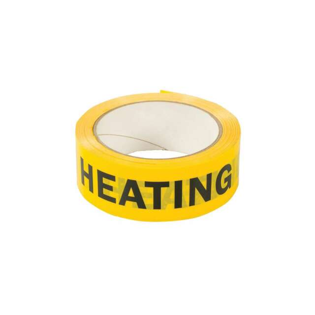 Dickie Dyer 38mm x 33m HEATING Identification Tape - 90.714