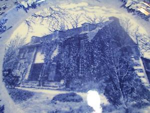 c1890s Bartram Family House Philadelphia Staffordshire Souvenir China Plate 9.25