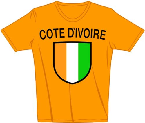 Kid Laender Kinder T-Shirt orange Gr 80-152 Elfenbeinküste  COTE D IVOIRE 73046