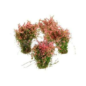 4-Dollhouse-Window-Box-Layout-Scenery-Landscape-Model-Ground-Cover-Flower-PINK