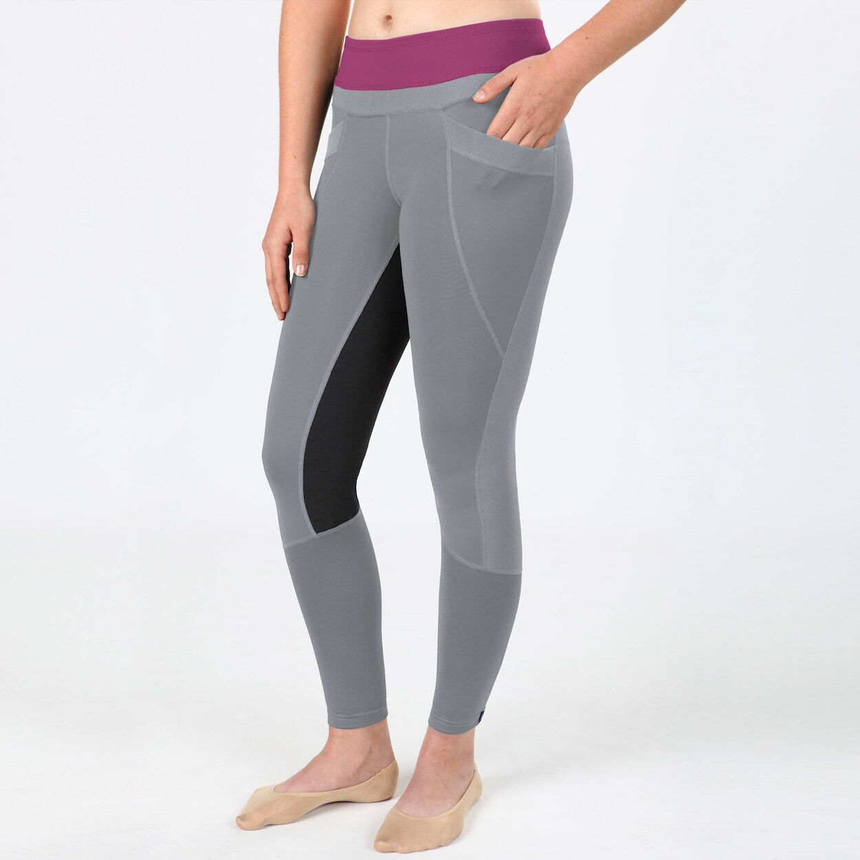 Irideon Synergy Full Seat Tights-Dove Grey Raspberry-S