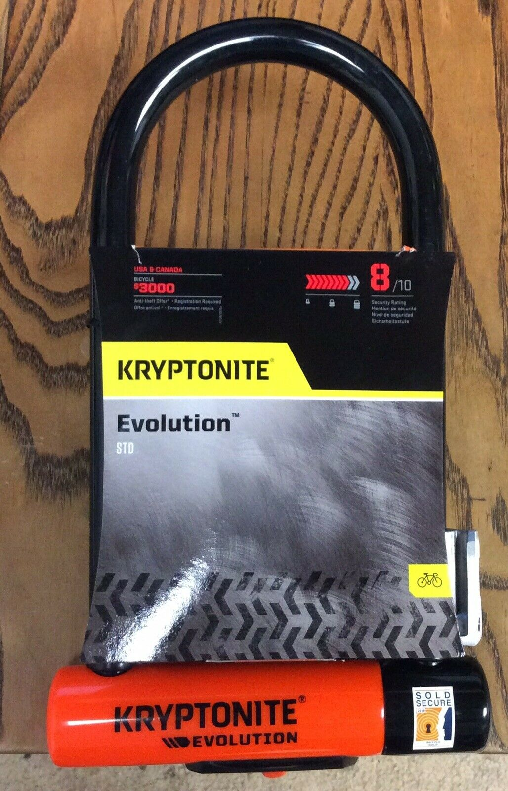 "Kryptonite Evolution  LS U-Lock 4/"" x 11.5/"" grade 8"