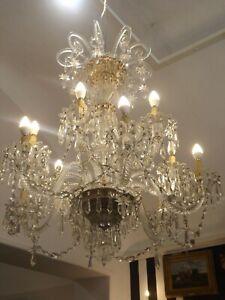 Lampadario Di Murano Antico.Antico Lampadario In Cristallo E Vetro Di Murano Anni 40 Italiano