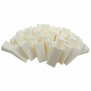 16-Pack-Sponge-Cosmetic-Wedges-White-Blender-Makeup-Foundation-Beauty-Brush-Bulk