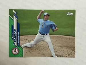 NATE PEARSON 2020 Topps Pro Debut GREEN PARALLEL SP RC 21/99! #PD-58! BLUE JAYS