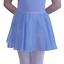 """ISTD CHIFFON GEORGETTE CIRCULAR BALLET DANCE SKIRT 18-28/"""" WAIST SKY BLUE /& PLUM"""