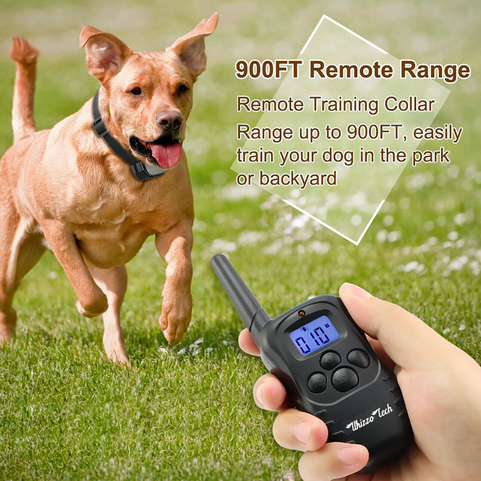 Image 51 - Dog-Shock-Training-Collar-Rechargeable-LCD-Remote-Control-Waterproof-330-Yards