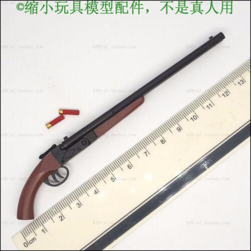 "1:6th Black/&Brown Weapon Gun Model Cowboy Double Tube Shot F12/"" Figure Hot Toys"