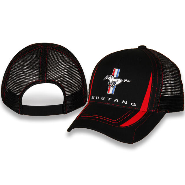 705873150e9 Ford Mustang Red and Black Mesh Hat Trucker Style for sale online