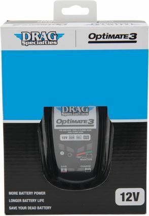 Drag Specialties 12V Optimate 3 Global Universal Battery Charger Harley Davidson