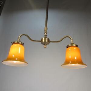 Hoehenverstellbare-Deckenlampe-Messing-Antik-Stil-Haengelampe-Deckenleuchte