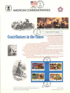 46-8c-18c-Contributors-the-Cause-1559-1562-USPS-Stamp-Panel-w-July-4-1976