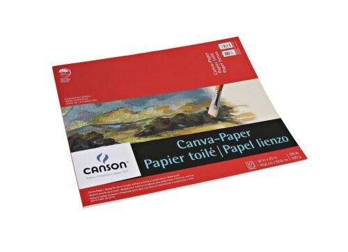 To... Canson Foundation Series Canva-Paper Pad Primed for Oil or Acrylic Paints