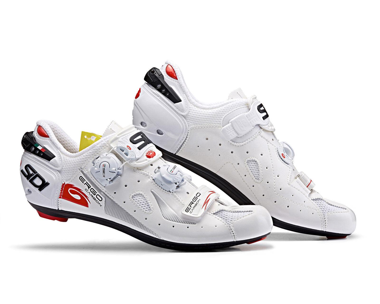 SIDI Ergo 4 Carbon Composite Road Cycling shoes - White White