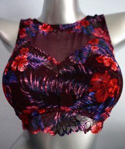 e537a0c8963ec Details about Pink Victorias Secret Black Orchid Wildflower Lace High Neck  Push Up Bralette DD