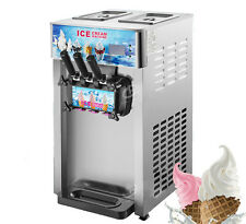 3 Flavor Commercial Frozen Ice Cream Cones Machine Soft Ice Cream Machine 220V Y