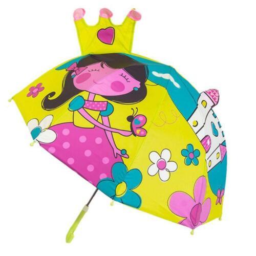 Children Umbrella Boys Girls Cartoon With Animal Ears Long Handle Light Umbrella