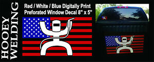 HOOEY WELDING decal full color Stars and Stripes BRAND NEW | eBay