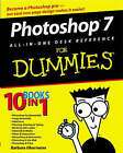 Photoshop 7 All-in-One Desk Reference For Dummies by David D. Busch, Barbara Obermeier (Paperback, 2003)