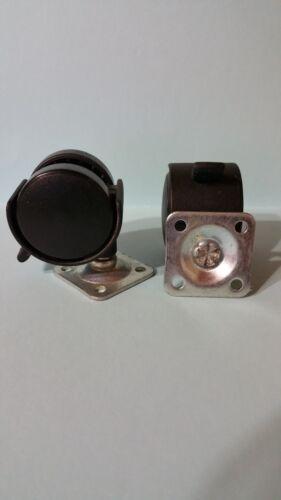 2 wheel Swivel Base Locking 1 1//2 inch Wheels and 1 1//2 x 1 1//2 Mountin Castor
