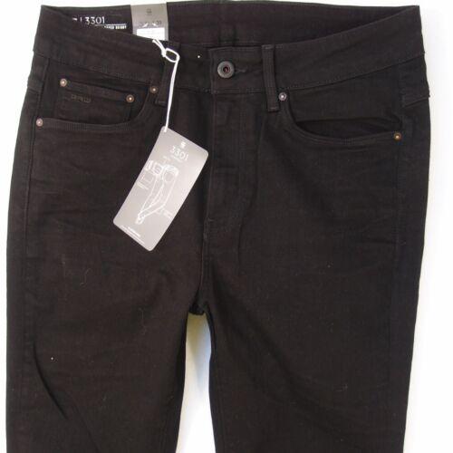 Jeans star 3301 Femme Ultra L28 Nouveau Super 10 Noir Bnwt Taille Skinny G W30 dqUBdR