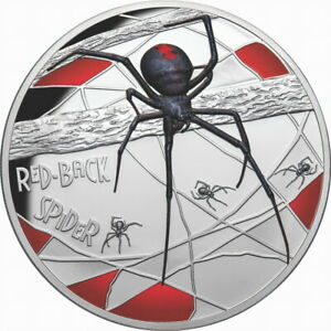 Niue-2020-Red-Back-Spider-Deadly-10-5-Troy-Oz-Pure-Silver-Color-Proof-FULL-OGP