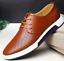British-Men-Casual-Genuine-Leather-Shoes-Lace-up-Sneakers-Breathable-Shoes thumbnail 4