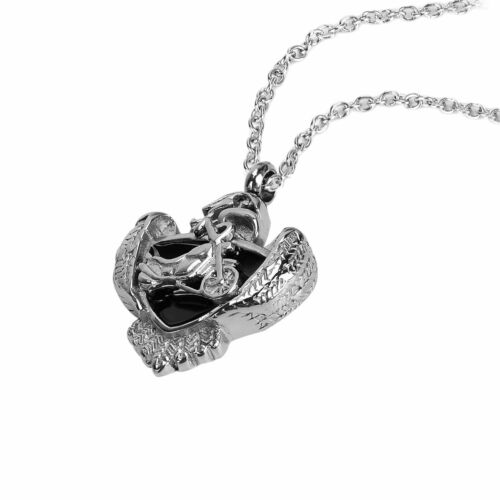 crematorium in pendant you heart from pet dignity product see necklace ash gold cremation jewellery