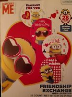 Despicable Me Minion Made Freindship Exchange Valentines Cards W Lollipops 28ct