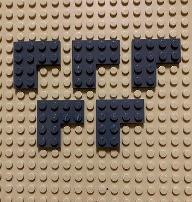 LEGO Parts NEW Pack of 2 Plate 4x4 Corner 2639 DARK BLUISH GREY