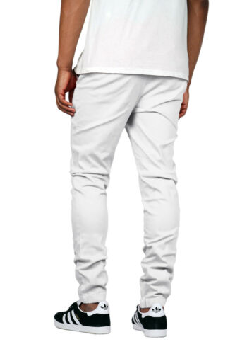 Men/'s Elastic Waist Trouser Twill Chino Jogger Pants Big/&Tall Active Gym Casual