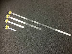 Stainless Steel Metal Ruler 15cm 30cm 60cm 100cm Brand New Bargain Prices.