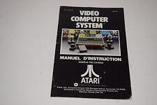 Atari 2600 Model Cx2600 Woodgrain 6-Switch Owners Manual 1977 Canadian