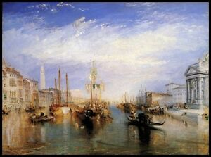 The-Grand-Canal-Venice-by-Turner-Giclee-Canvas-or-Fine-Art-Print-Picture-Poster