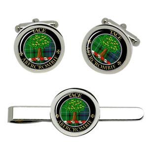 Abercrombie-Scottish-Clan-Cufflinks-and-Tie-Clip-Set