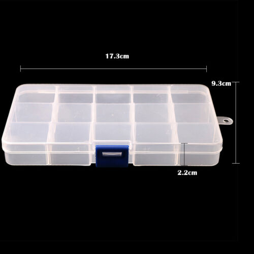 10//15//24//28 Slots Adjustable Jewelry Organizer Boxes Case Beads Storage Box