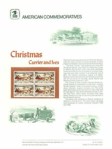 41-10c-Currier-amp-Ives-Christmas-1551-USPS-Commemorative-Stamp-Panel